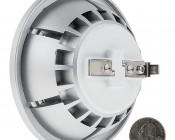 LED AR111 Spot Lamp - 12 Watt COB LED: Back View With Size Comparison