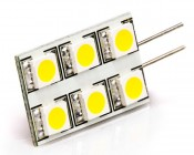 White 6HP-LED Rectangular G4 Lamp