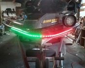 Customer's Boat with Red and Green WFLS Light Strips on Port and Starboard side of Bow