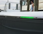 7 Inch 12 White RV LED Tube Light - RV and Boat LED Lights: Customer Submitted Photo of Light Installed on Boat, Thanks Tim!