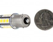 7507 (PY21W) LED Bulb - 18 SMD LED Tower - BAU15S Retrofit: Back View