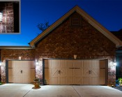E27 LED Bulb - 13W: Cool White Bulbs Installed On Garage Exterior Post Lights