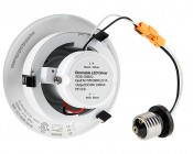 """LED Can Light Retrofit for 4"""" Fixtures - 10W Gimbal Can Light Conversion Kit: Back View"""