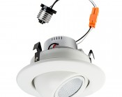 """Retrofit LED Can Lights for 4"""" Fixtures - 80 Watt Equivalent - LED Eyeball Can Light Conversion Kit - Dimmable - 750 Lumens"""