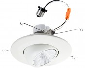 "Retrofit LED Can Lights for 5"" to 6"" Fixtures - 85 Watt Equivalent - LED Eyeball Can Light Conversion Kit - Dimmable - 860 Lumens"