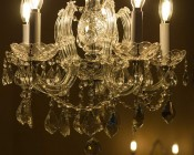 LED Filament Bulb - B10 LED Candelabra Bulb with 4 Watt Filament LED - Dimmable: Shown On And Installed In Chandelier