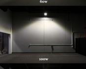 LED Canopy Lights - 100W - Natural White - Flush Mount or Surface Mount - Rectangular LED Beam Pattern - 10,000 Lumens: Comparison Of Beam Patterns.