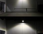 LED Canopy Lights - 100W - Natural White - Flush Mount or Surface Mount - Rectangular LED Beam Pattern - 10,000 Lumens: Showing Rectangular Beam Pattern.