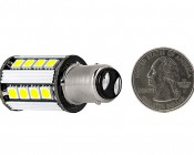 1157 CAN Bus LED Bulb - Dual Function 26 SMD LED Tower - BAY15D Retrofit: Back View