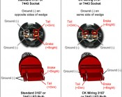 3157 CK LED Bulb - Dual Function 45 SMD LED Tower - Wedge Retrofit