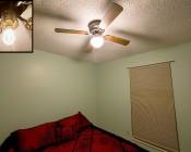 E27 LED Bulb - 13W: Installed In Ceiling Fan
