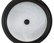 "15"" Oil Rubbed Bronze Housing Dimmable LED Flush Mount Ceiling Light: Front View"