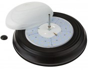 "15"" Oil Rubbed Bronze Housing Dimmable LED Flush Mount Ceiling Light: Remove Lens To Access Mounting Holes"