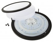 """16"""" Dimmable LED Flush Mount Ceiling Light: Remove Lens To Access Mounting Holes"""
