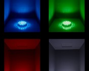 """LED Centerpiece Light - 6"""" Rechargeable Battery Powered Color Changing LED Vase Light w/ Remote: Turned On Showing Light Output"""