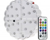 """LED Centerpiece Light - 6"""" Rechargeable Battery Powered Color Changing LED Vase Light w/ Remote"""