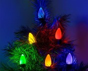 C9 LED Bulbs - Ceramic Style Replacement Christmas Light Bulbs: Installed on Light String on Tree
