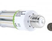LED Corn Light - 105W Equivalent Incandescent Conversion - E26/E27 Base: Back View
