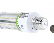 LED Corn Light - 140W Equivalent Incandescent Conversion - E26/E27 Base: Back View.