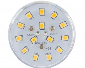 LED Corn Light - 140W Equivalent Incandescent Conversion - E26/E27 Base: Front View.
