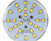LED Corn Light - 160W Equivalent Incandescent Conversion - E26/E27 Base: Front View