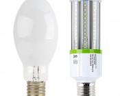LED Corn Light - 160W Equivalent Incandescent Conversion - E26/E27 Base: Profile Comparison View