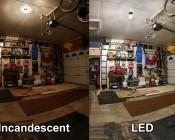 LED Corn Light - 220W Equivalent Incandescent Conversion - E26/E27 Base. 60 Watt Incandescent Bulb In Picture.