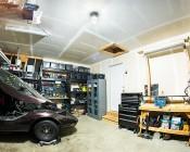 LED Corn Light - 390W Equivalent Incandescent Conversion - E26/E27 Base: Installed in Garage