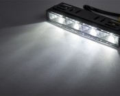 LED Daytime Running Light Kit with Dimming Function: On Showing Beam Pattern.