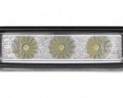 LED Daytime Running Light Set - Bottom Mount, 3W: Front View