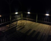 LED Deck and Step Light illuminates the perfect amount of light for a deck