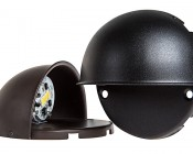 LED Deck and Step Light - 4 Watt: Available In Smooth Brown Finish & Textured Black Finish