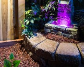 LED Deck and Step Light - 2 Watt: Attached To Wood Fence
