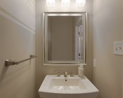 E27 LED Decorative Bulb - 9W Blunt Tip Candle Shape: Installed Above Sink In Bathroom