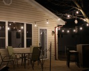 LED Decorative Filament A19 Bulb - 8 Watt, Warm White Deck / Wedding Lighting (not for wet locations, bulbs are not weatherproof)