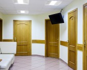 40W Recessed LED Troffer Light w/ Center Basket - 2x2 - 5,200 Lumens - 4000K - Dimmable: Illuminating Waiting Room