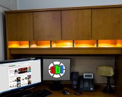RLF-x12SMD - Recessed Light Fixture, 12 LED: Installed in Desk
