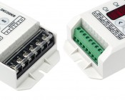 DMX Decoder for LED DMX Controllers with Address Digital Display - 3 Channel, 8A: Detail View Of Controller Ends