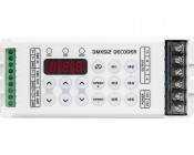 DMX Decoder for LED DMX Controllers with Address Digital Display - 3 Channel, 8A: Front View