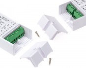 DMX Decoder for LED DMX Controllers with Address Digital Display - 4 Channel, 8A: Detail View Of Controllers Ends.
