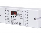 DMX Decoder for LED DMX Controllers with Address Digital Display - 4 Channel, 8A