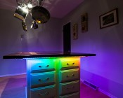 Color Chasing RGB LED Light Strip Kit - Flexible LED Tape Light with 9 SMD LEDs/ft. -  3 Chip RGB SMD LED 5050: Installed Under Kitchen Island