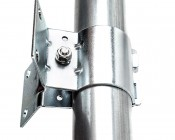 LED Dusk to Dawn Security Light w/ Mast Arm - 50W - Natural White: Close Up View of Bracket on Mast Arm