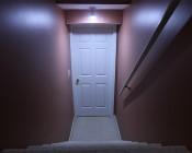 LED Emergency Light Bulb for Power Outages with Remote and Internal Rechargeable Battery In Household Hallway