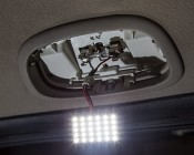30 High Power LED Rectangle PCB Lamp w/ Festoon Base: Installed In Jeep