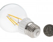 LED Filament Bulb - A19 LED Bulb with 4 Watt Filament LED, Warm White: Back View