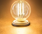 LED Filament Bulb - G16 LED Bulb with 4 Watt Filament LED - Dimmable: Turned On