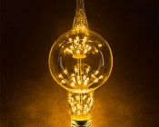 LED Fireworks Bulb - G80 Decorative Alien Light Bulb - 3W Dimmable: 360° View.