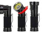 LED Flashlight - NEBO CRYKET - 250 Lumens: Profile View. Twist Head 90° to Adjust Position
