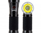 LED Flashlight - NEBO CRYKET - 250 Lumens: Front View in Both Configurations